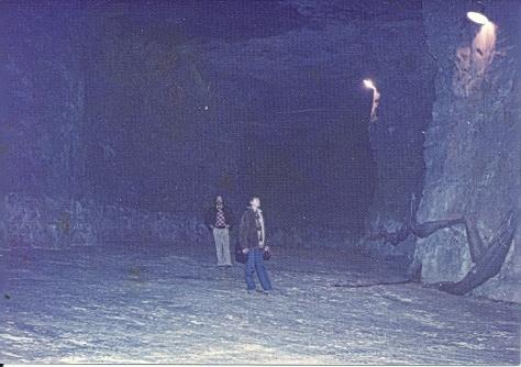 questa è una piccola visuale delle grotte di Bergamo dove si coltivano i Champignons